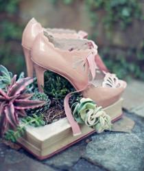 wedding photo - Chic Vintage chaussures de mariage à talons hauts