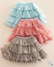 wedding photo - Layered Tulle Flower Girl Skirts