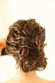 wedding photo - Boda ondulado peinado Updo