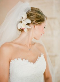 wedding photo - Coiffures de mariée simples ♥ Wedding Chignons Coiffure et Veil simple