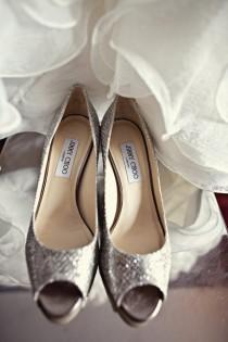 wedding photo - Jimmy Choo Sparkly scarpe da sposa scarpe da sposa ♥ Chic