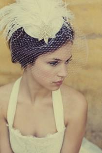 wedding photo - Vintage Birdcage Veil ♥ Chic Bridal Headpieces