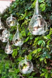 wedding photo -  Glass Hanging Tealights Wedding Decoration
