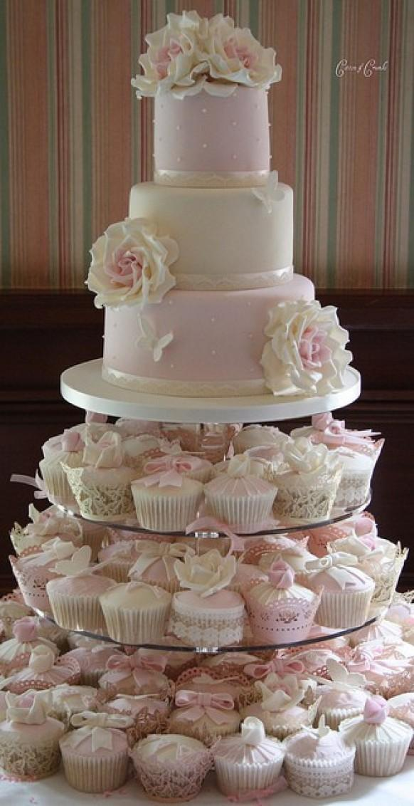 cupcake tiered wedding cake designs fondant wedding cakes wedding cupcake design 802387 13153
