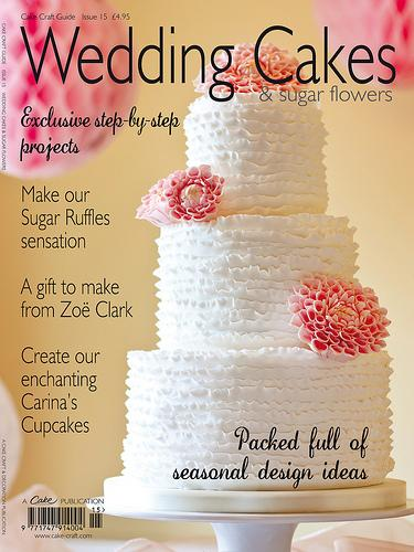 wedding cake magazines food amp favor wedding cakes amp sugar flowers magazine 23112
