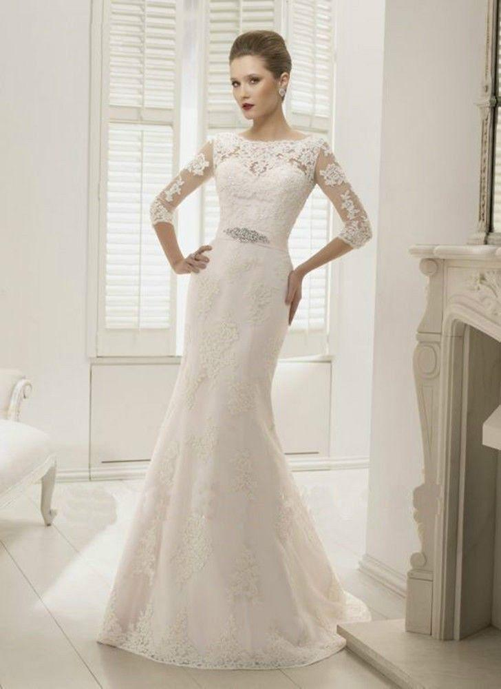 2017 High Lace Lique Wedding Fashion Slim European Style Dress Costom