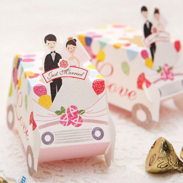 25 Wedding Gift Card Bo Sweet Candy Party Favor Box Just Married Love