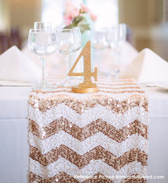 Chevron Sequin Table Runner Ready To Ship Sparkly Wedding Tablecloth For Reception Bridal Shower Winter Ceremony Decor New