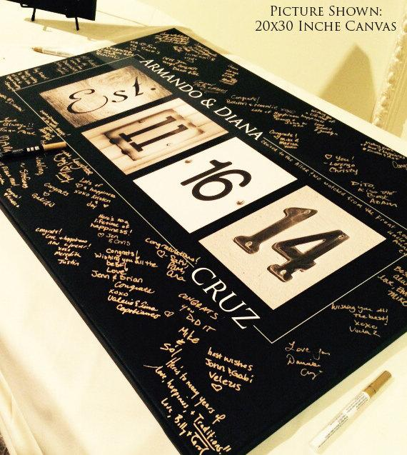 Wedding Guest Book Alternative Ideas Custom Gallery Wred Canvas Up To 24x36 Inches New